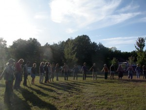 opening circle at The Farm CBCX